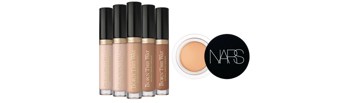 Too Faced Born This Way Naturally Radiant Concealer   Nars Soft Matte Complete Concealer