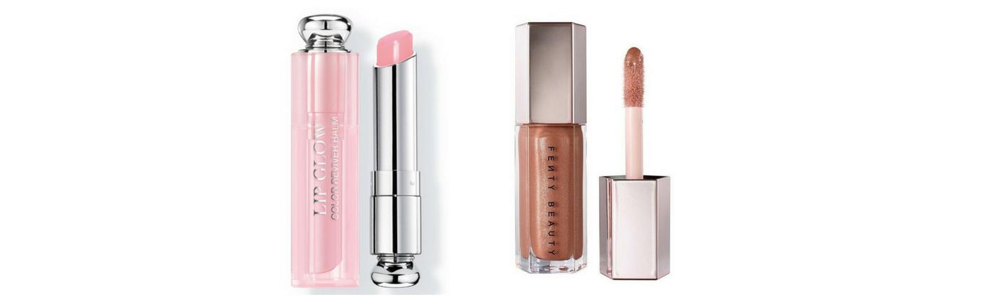 Dior Addict Lip Glow Colour Reviver Balm in 001   Fenty Gloss Bomb Universal Lip Luminizer