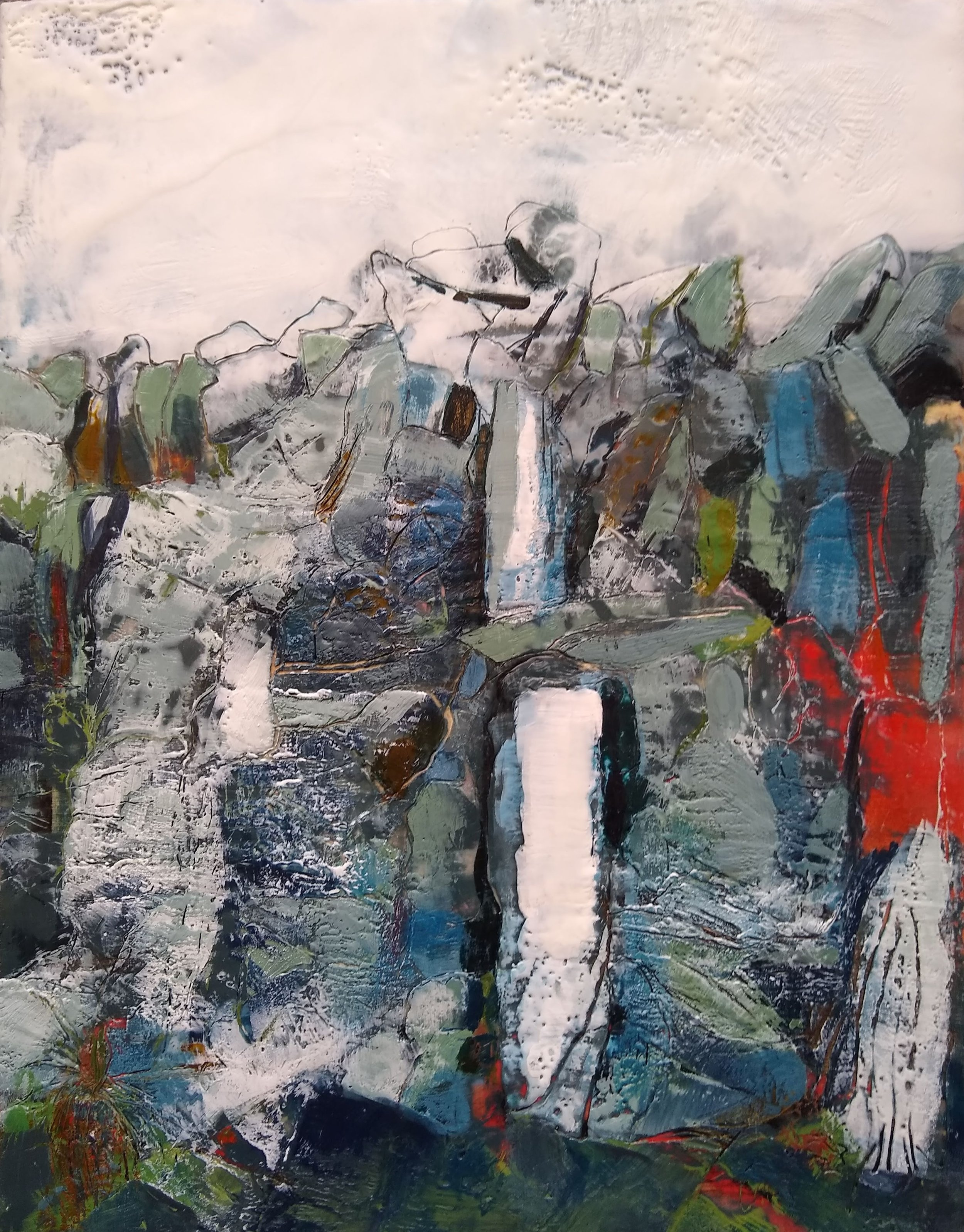 Inisheer stone wall, encaustic wax