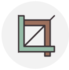 L bracket representing schematic design.
