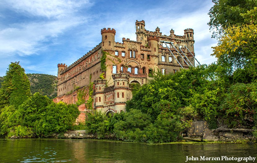 The ruins of the castle on Bannerman Island, on the Hudson River, in New York State.