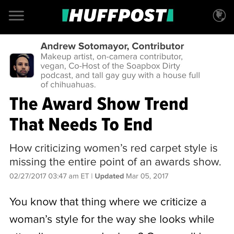 Huffington Post: The Award Show Trend That Needs To End