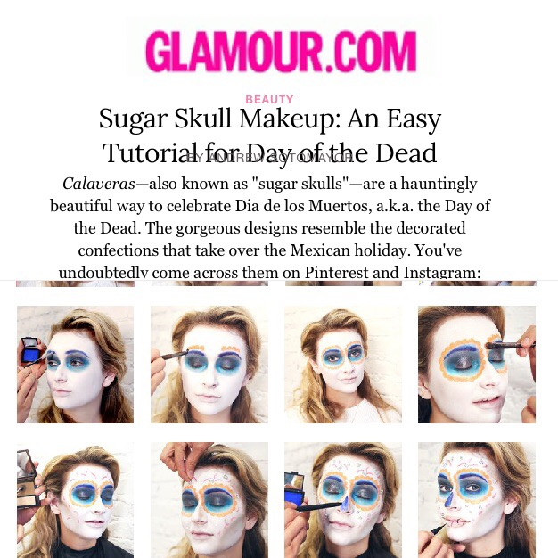 Glamour.com: Sugar Skull Makeup: An Easy Tutorial for Day of the Dead