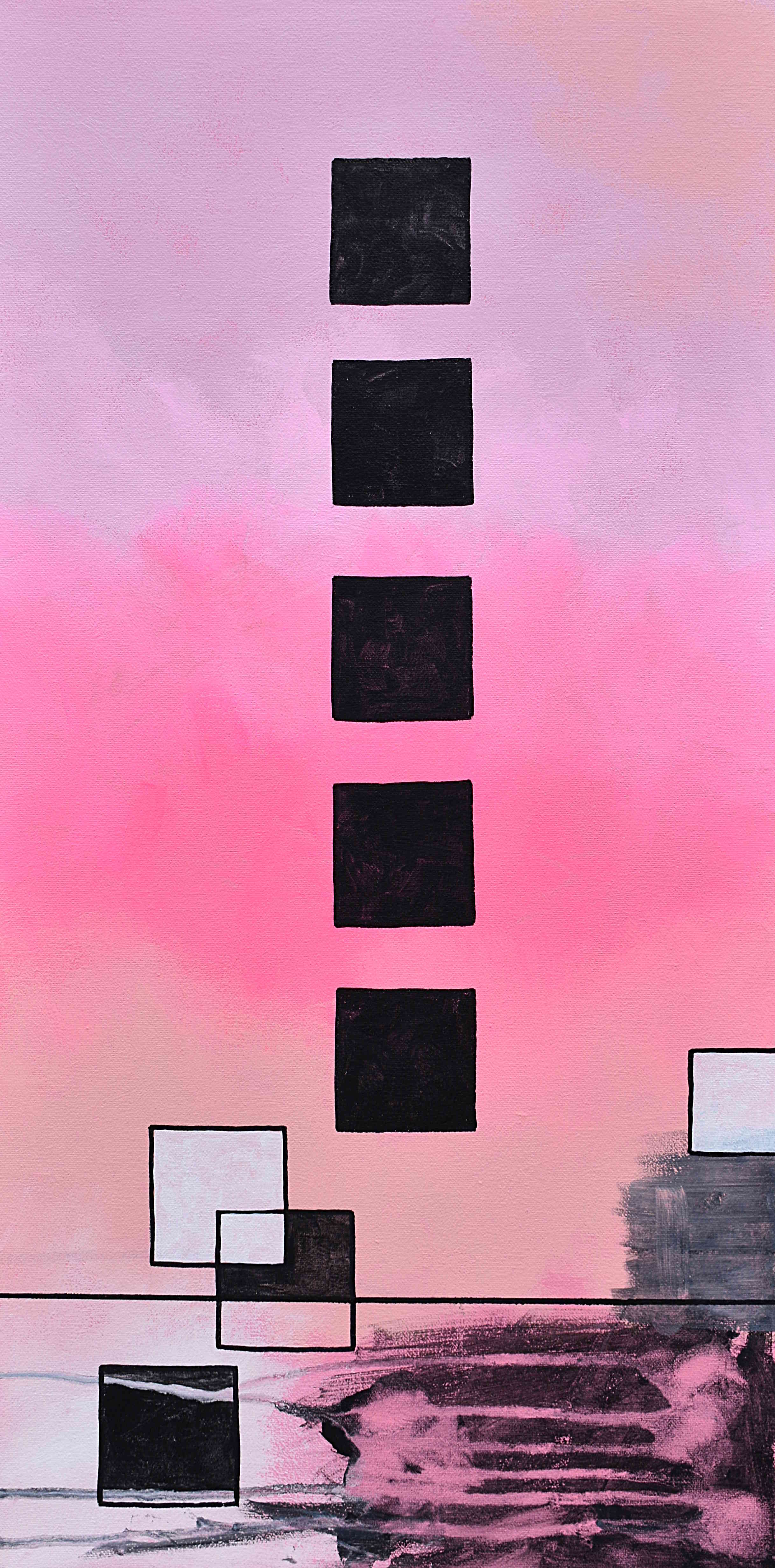 Black Squares in Pink