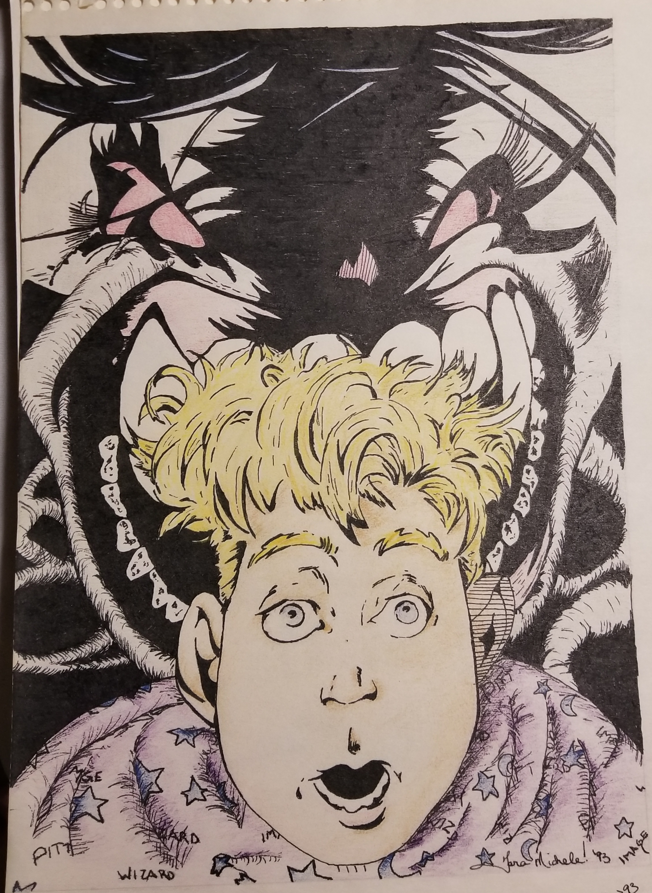 1993. Colored pencils and ink