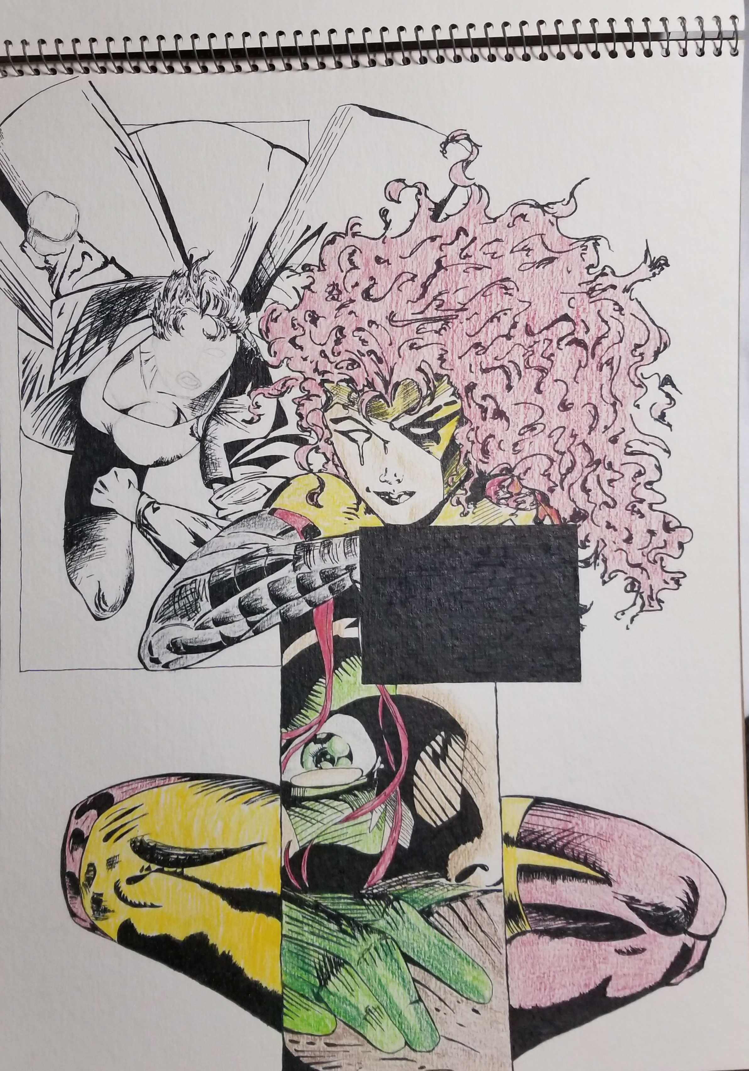 1993. Colored pencil and ink