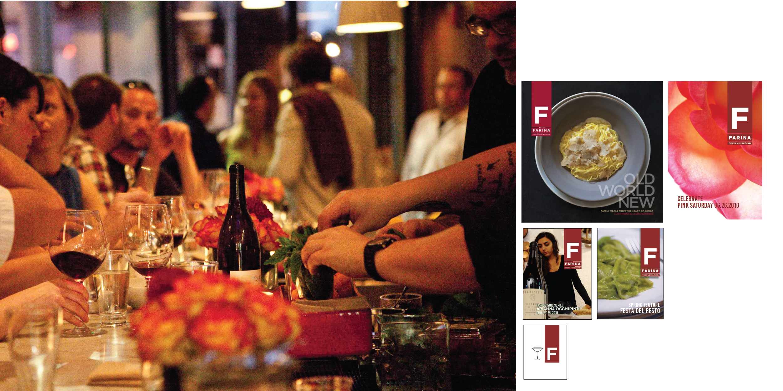 - QUARTERLY EVENTSWINEMAKER DINNERSMARKETING COMMUNICATIONSICONOGRAPHY OLD WORLD NEW COOKBOOK