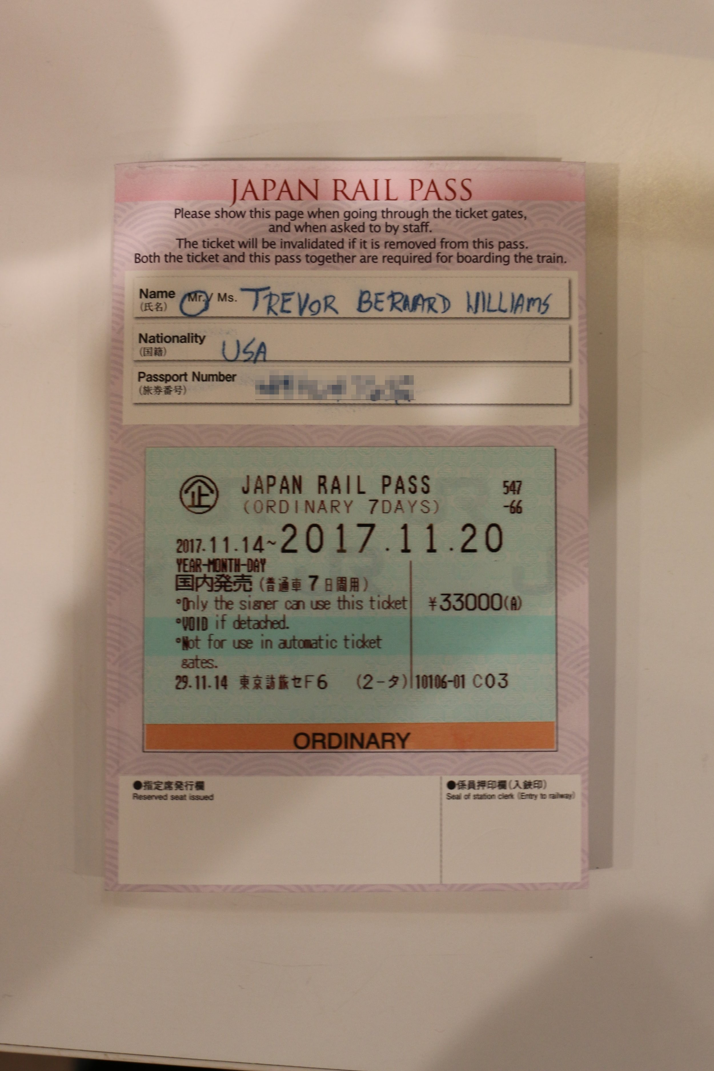 This unlimited ride pass paid for itself after two round-trips on the shinkansen.