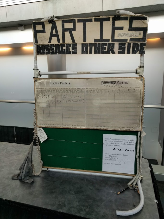 The oldest party board I've ever seen for a conference.