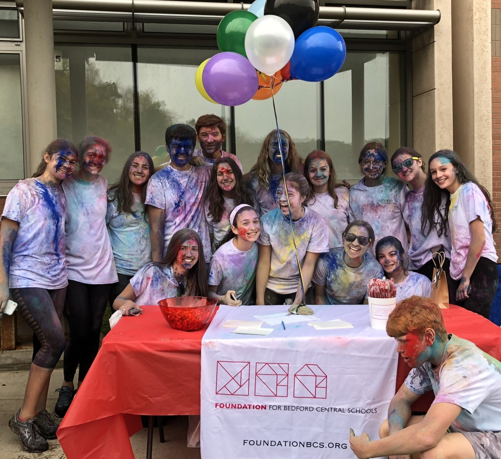 The Foundation supports the community at the Family Reach Rainbow Run at FLHS.