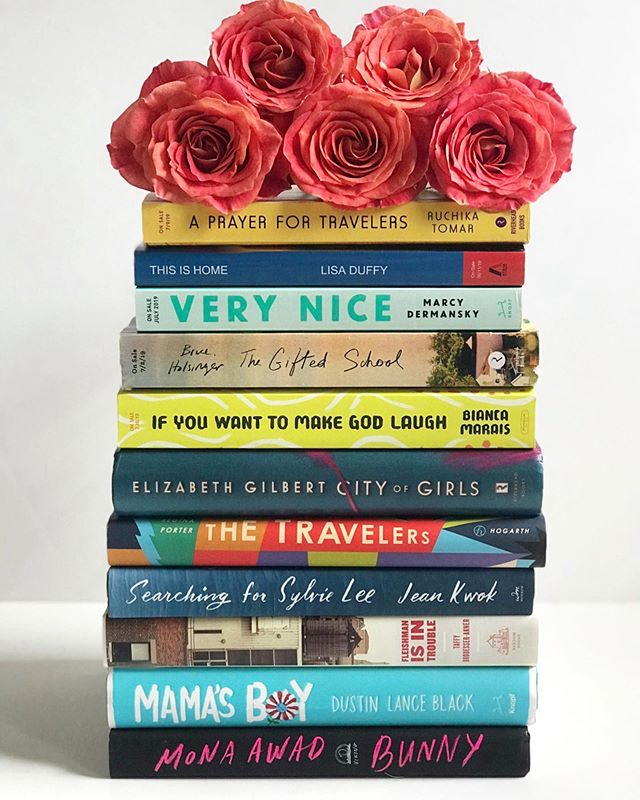 #partner Good morning y'all!! Since we had a lot of time on our hands yesterday, I decided to make a Barry Book Stack. 🤣🤣 We made it through the night 🙌🏻🙌🏻 even though the wind was blowing like CRAZY.  It has rained steadily until this morning, but it has slacked off a bit as of now.  Huck is enjoying all the extra snuggles, but Zelda is mad because he won't play hide and seek with her. They have kept us laughing! 🐰🐶 . . I am flying through The Most Fun We Ever Had and so far, it is absolutely living up to the hype.  Thank you very much to everyone who has checked in and sent their thoughts, prayers and good vibes - it is appreciated more than you know!  We are expecting rain all day long, so my plan is to read as much as possible and catch up on reviews.  Gulf coast peeps, let me know how you are doing in the comments! I hope everyone was able to stay safe. For those who are outside the gulf coast area, what are your plans for today?  I would love to hear about them in the comments!! #barry #wemadeit #bookstack