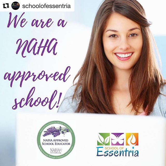 We are so excited to announce we are an approved school with the National Association for Holistic Aromatherapy (NAHA)‼️ NAHA has been around for 29 years and of its professionals have been practising aromatherapy for even longer ❤️ As a level 3 school, we offer the highest level of professionally recognized certified education :) Come learn from us today....prices go up May 16th (no exceptions). @beyondaromatics  #aromatherapycertification #essentria #essentialoileducation  #certifiedaromatherapist  #expertknowledge  #EssentialOilSafety #EssentialOils #schoolofessentria⠀⠀⠀⠀⠀⠀ #aromatherapy  #essentialoils #certifiedaromatherapist #botanicalbeauty #aromatherapyeducation #essentialoil #herbalmedicine #plantmedicine #plants #botany #aromatherapy #aromatherapist #aromatherapyschool #aromatherapyrecipes #naha #nationalassociationofholisticaromatherapy