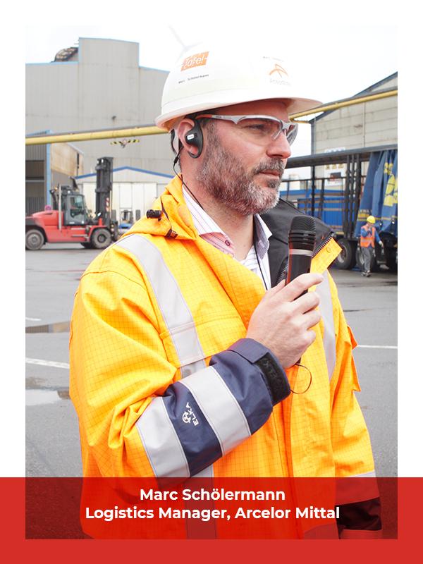 interview Hamburg steel factory