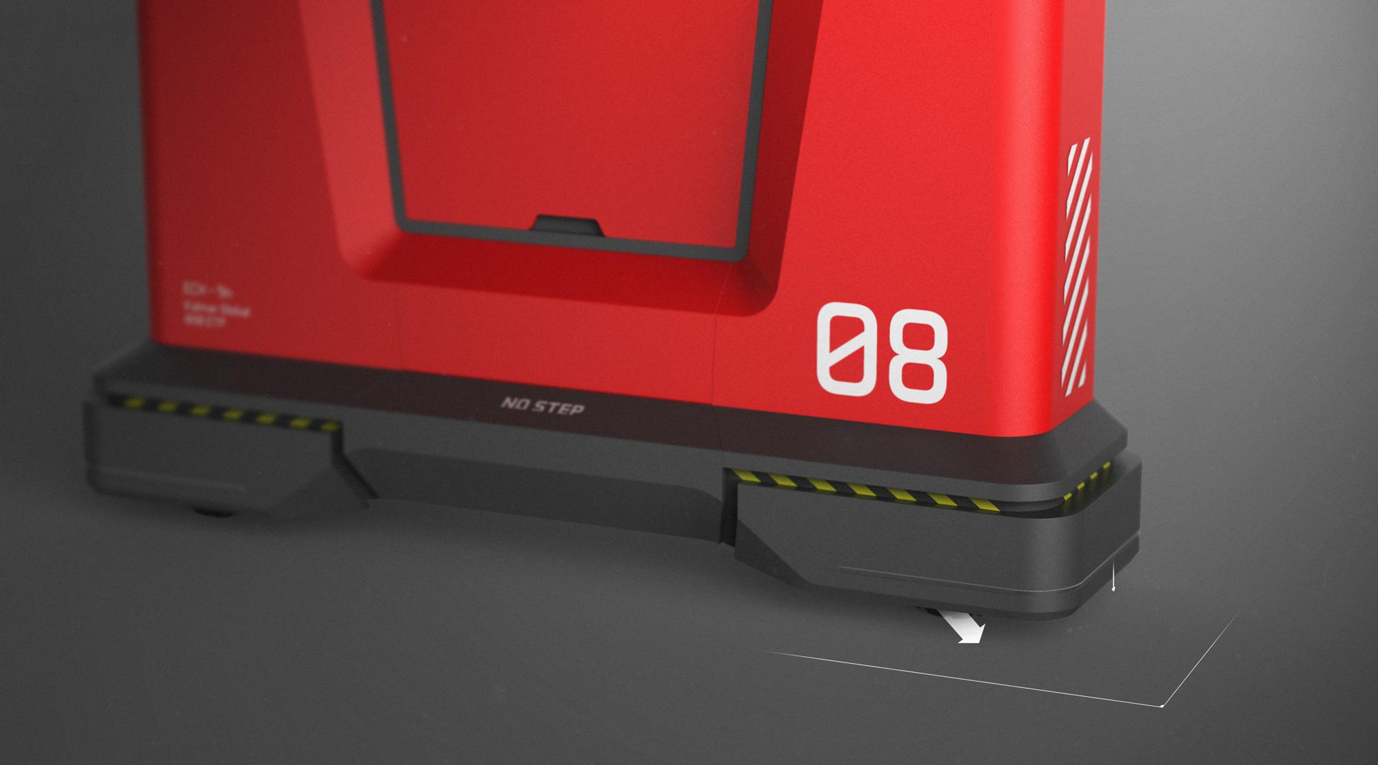 hydralic feet - rendering - 2