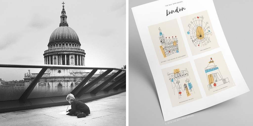 St Paul's and London art print