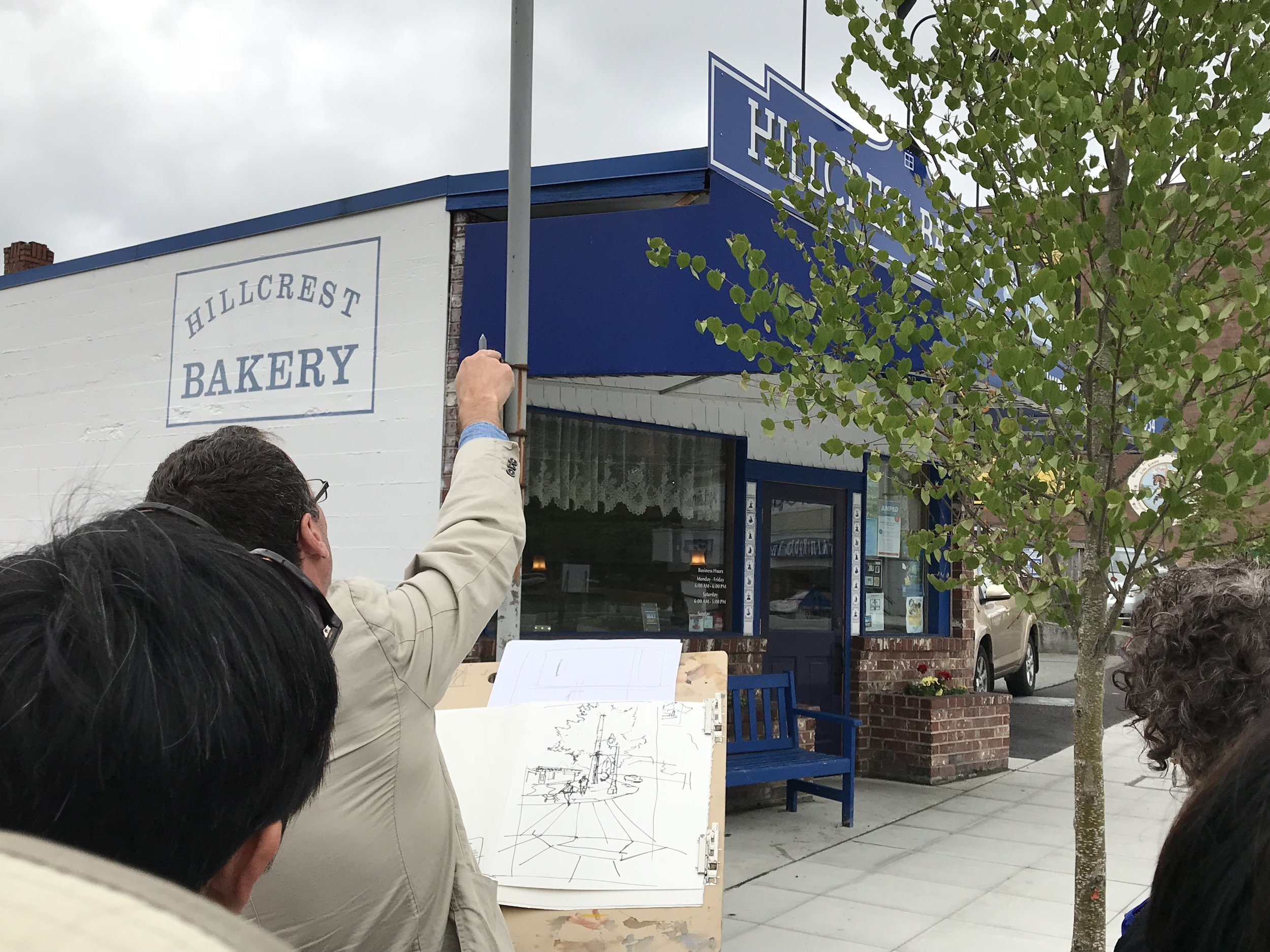 Hillcrest Bakery - Line Work and Composition Exercise