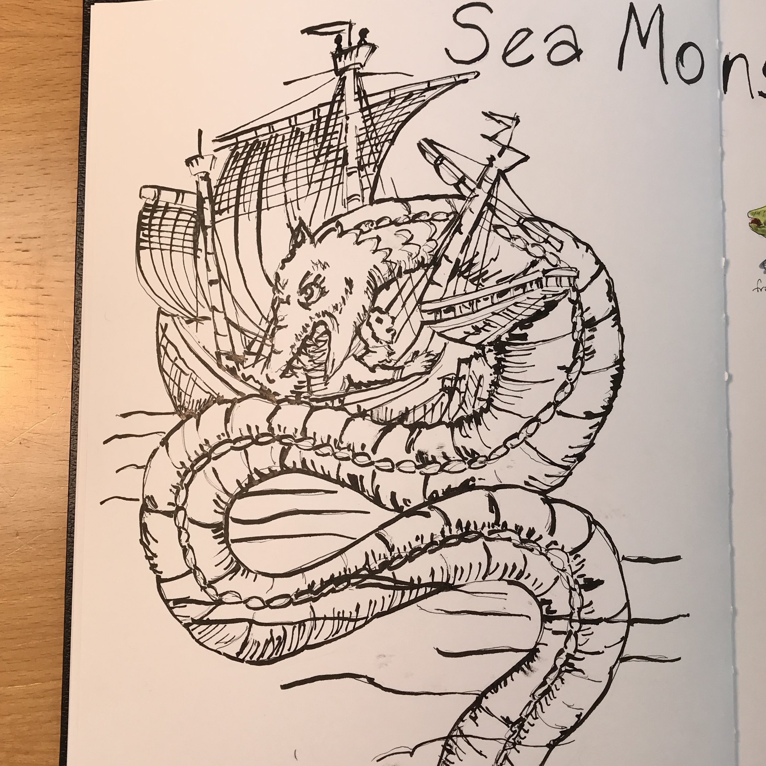 Drawing Maps - and Sea Monsters!