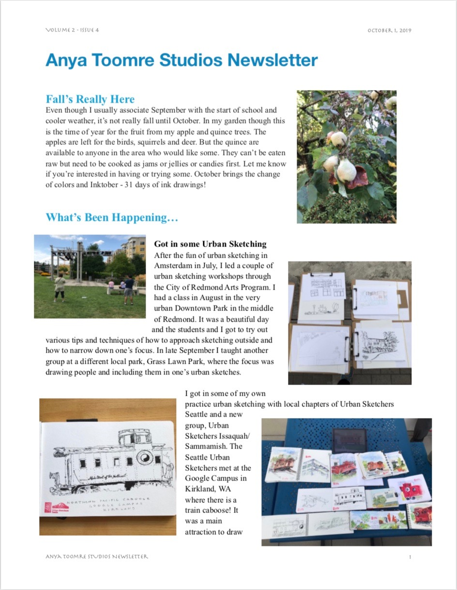 Download the October 2019 Newsletter PDF here