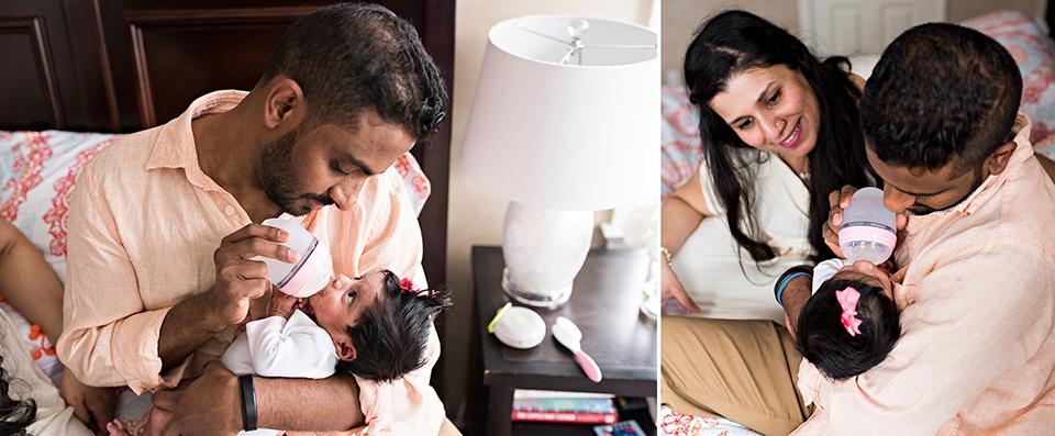 dad feeding newborn bottle southington connecticut newborn photographer