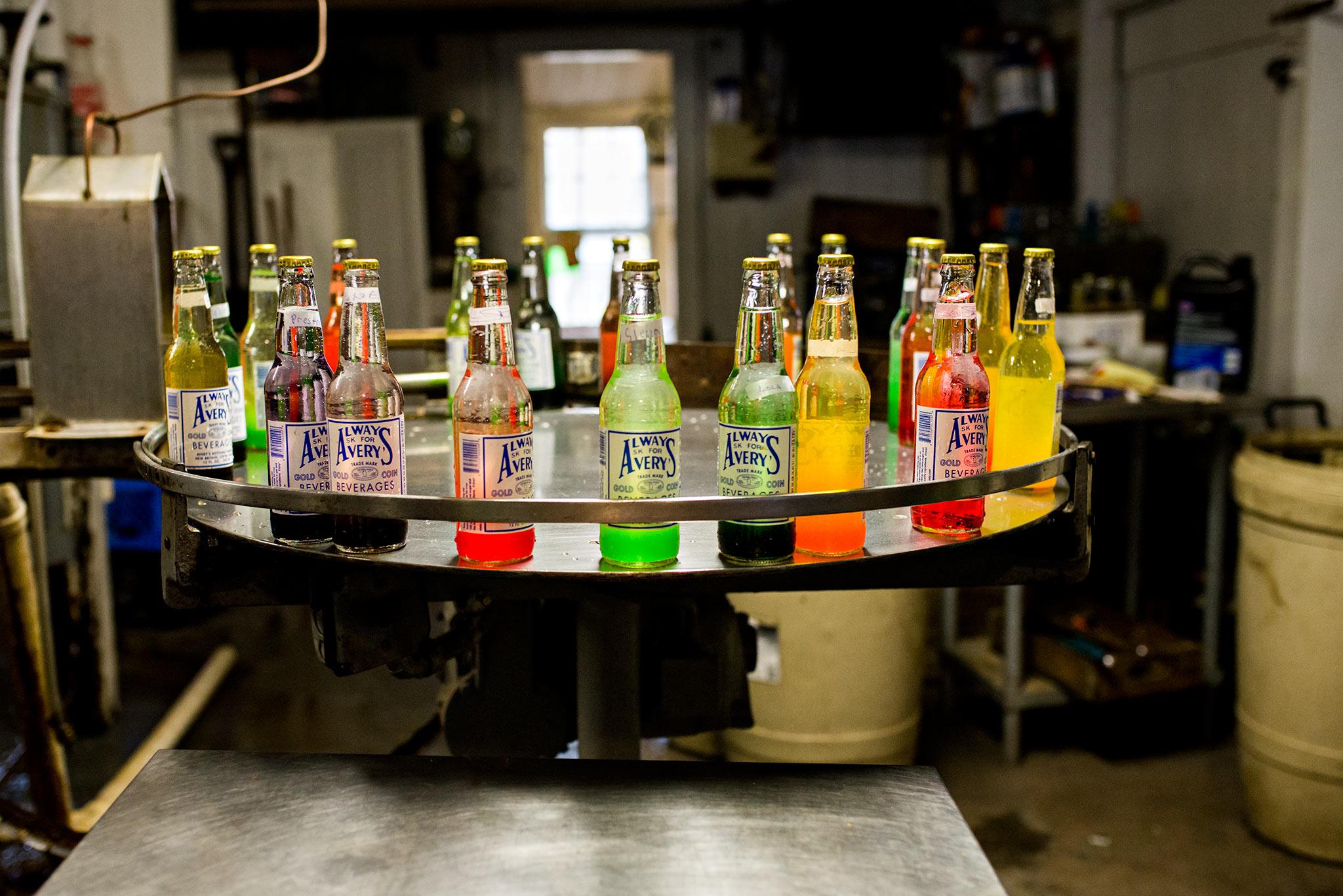 soda bottles ready to be hand mixed averys soda new britain connecticut photography