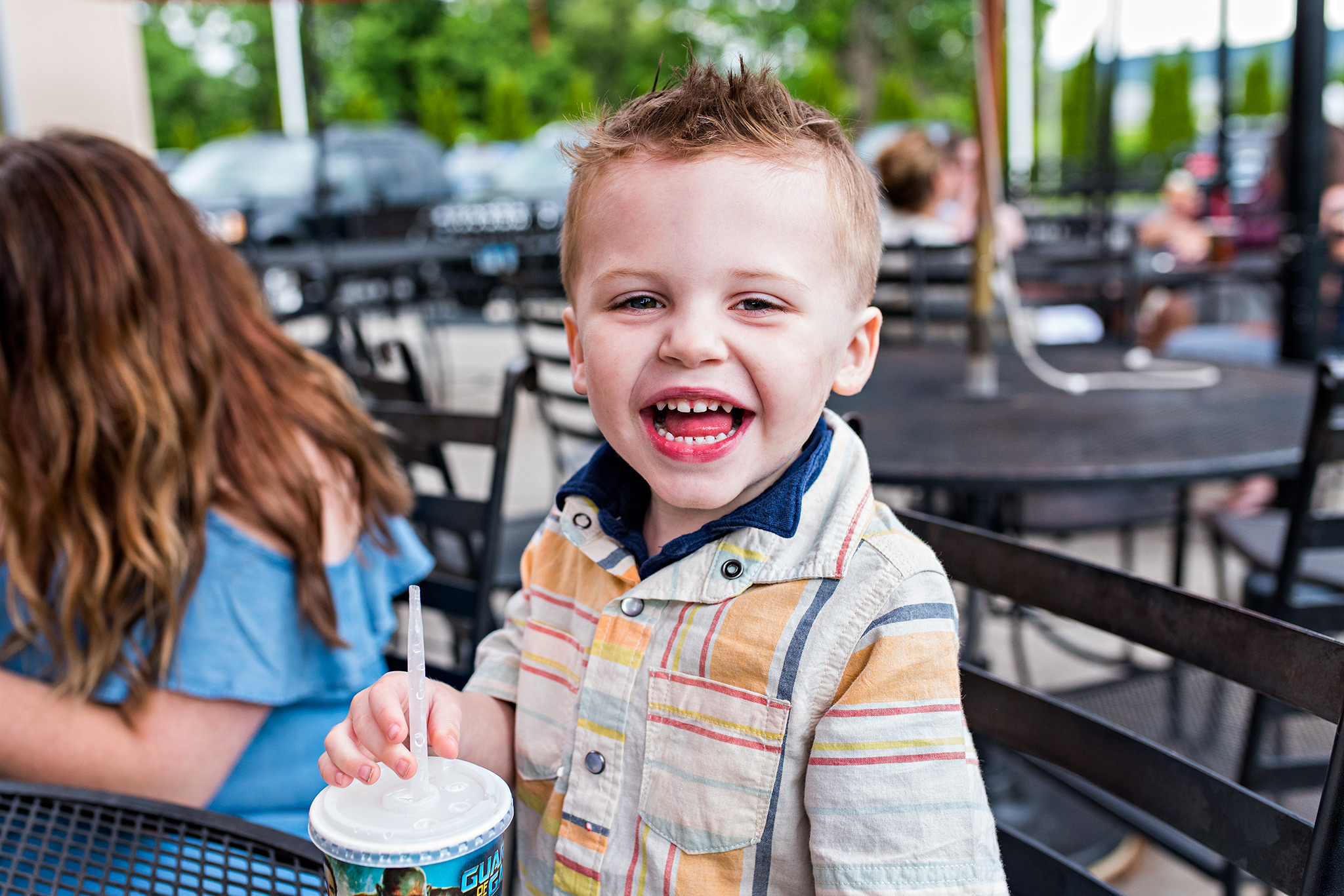 boy at dairy queen family photography ct