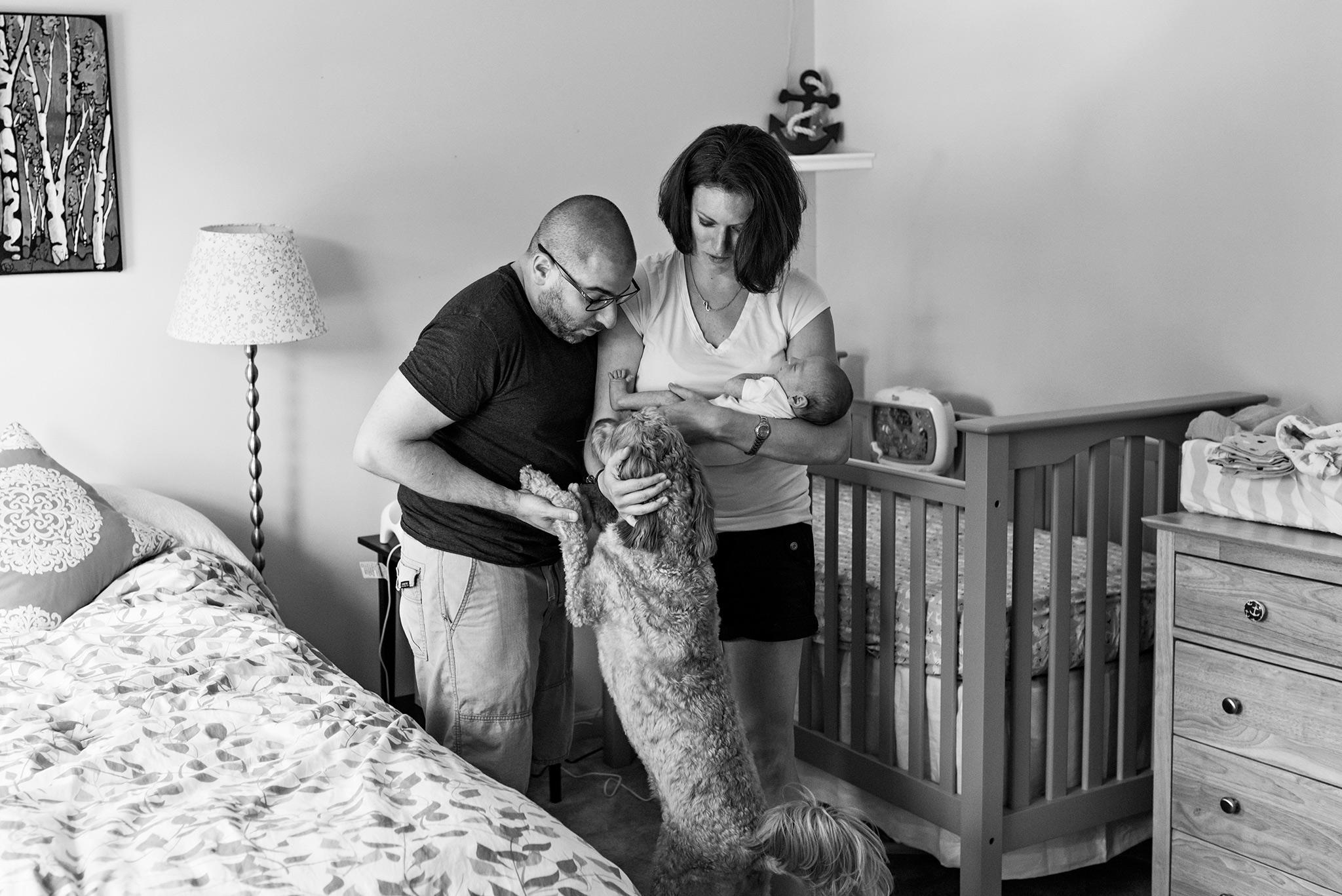 connecticut newborn photographer in nursery