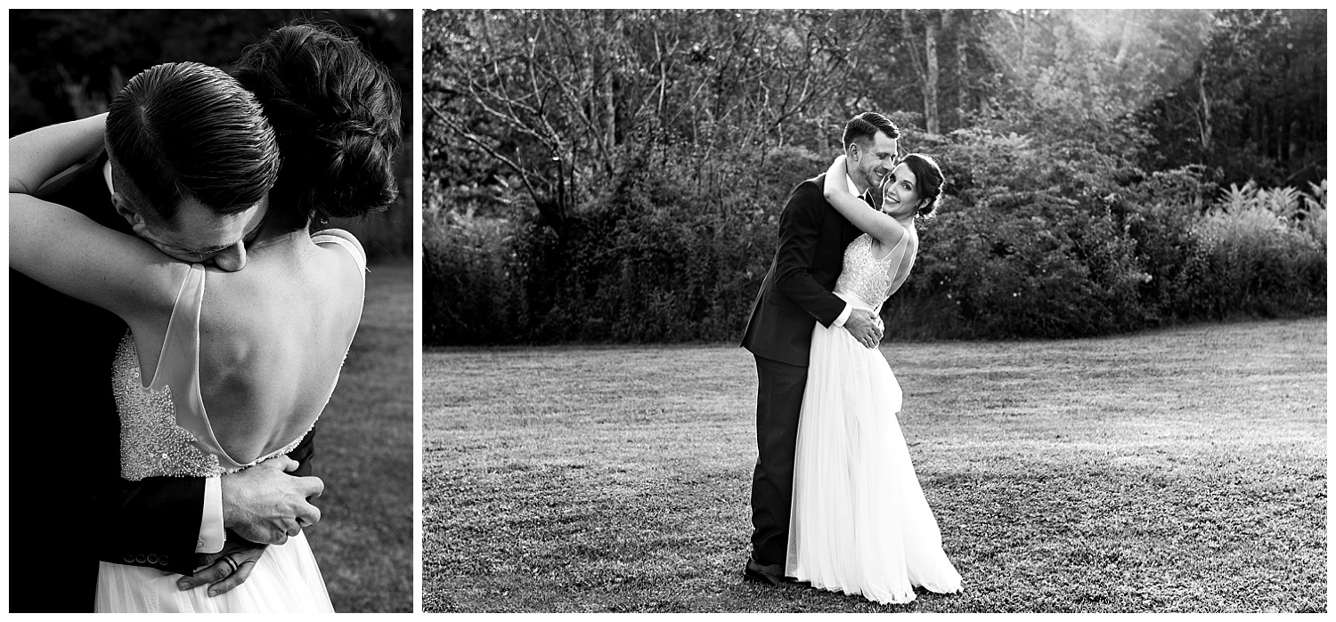 Bride and Groom photography at The Litchfield Inn