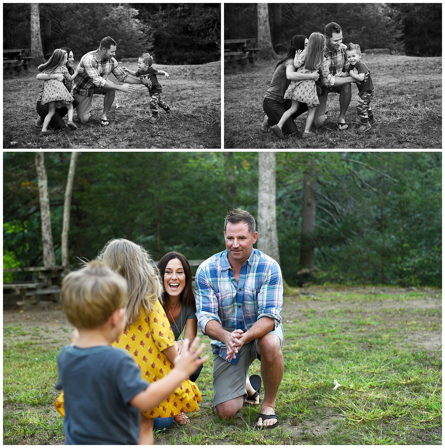 children hugging mom and dad fairfield county family photography