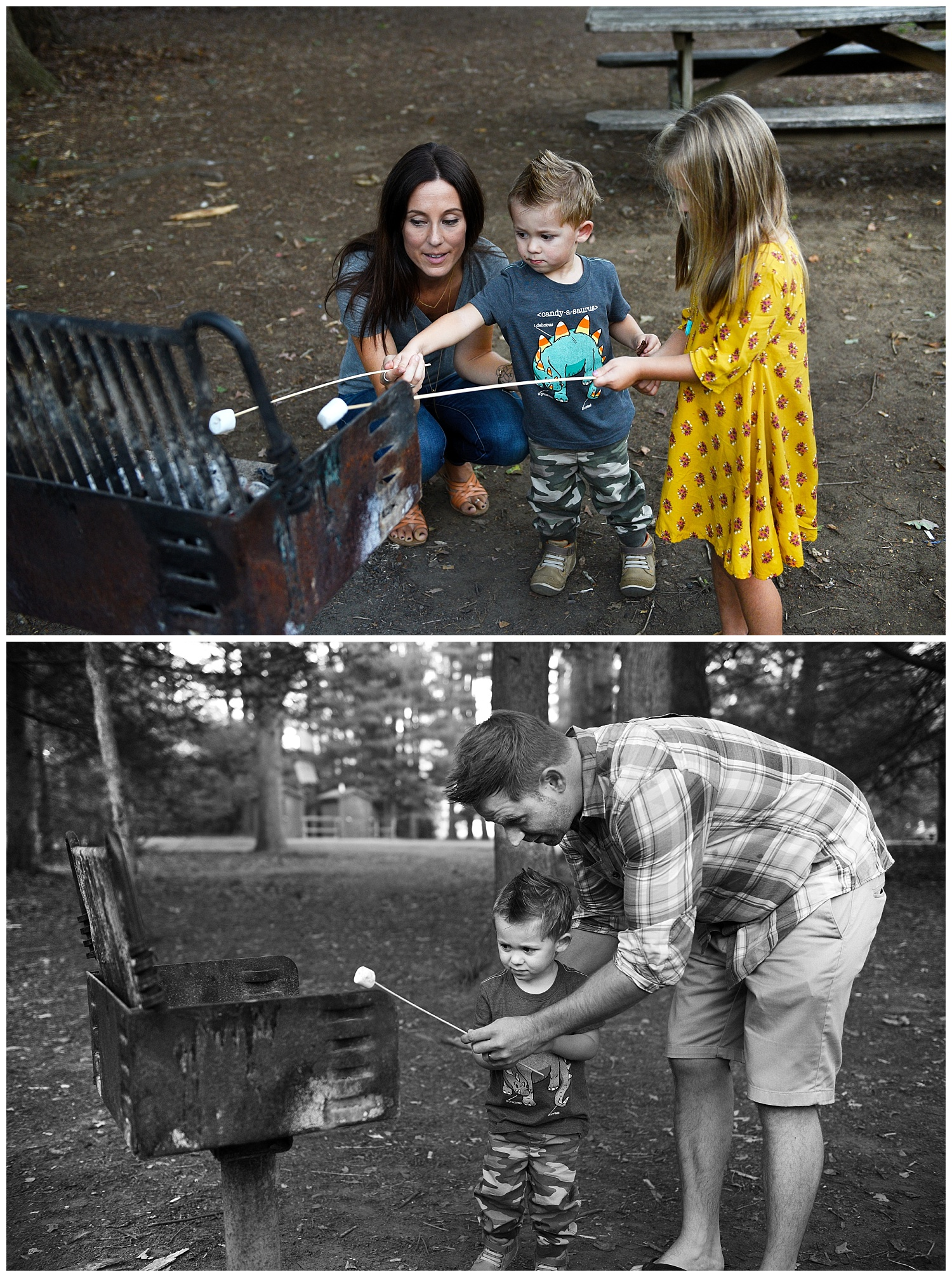 make smores new canaan family photography session