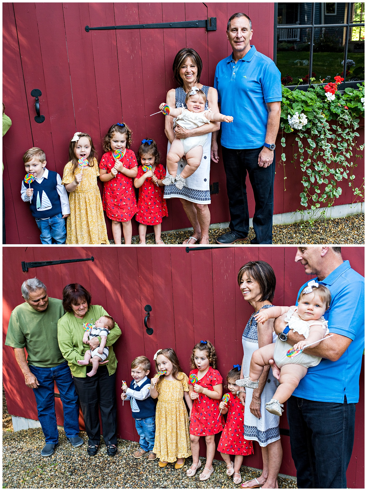 grandparents with grandchildren family photography session connecticut. darien, ct family photography