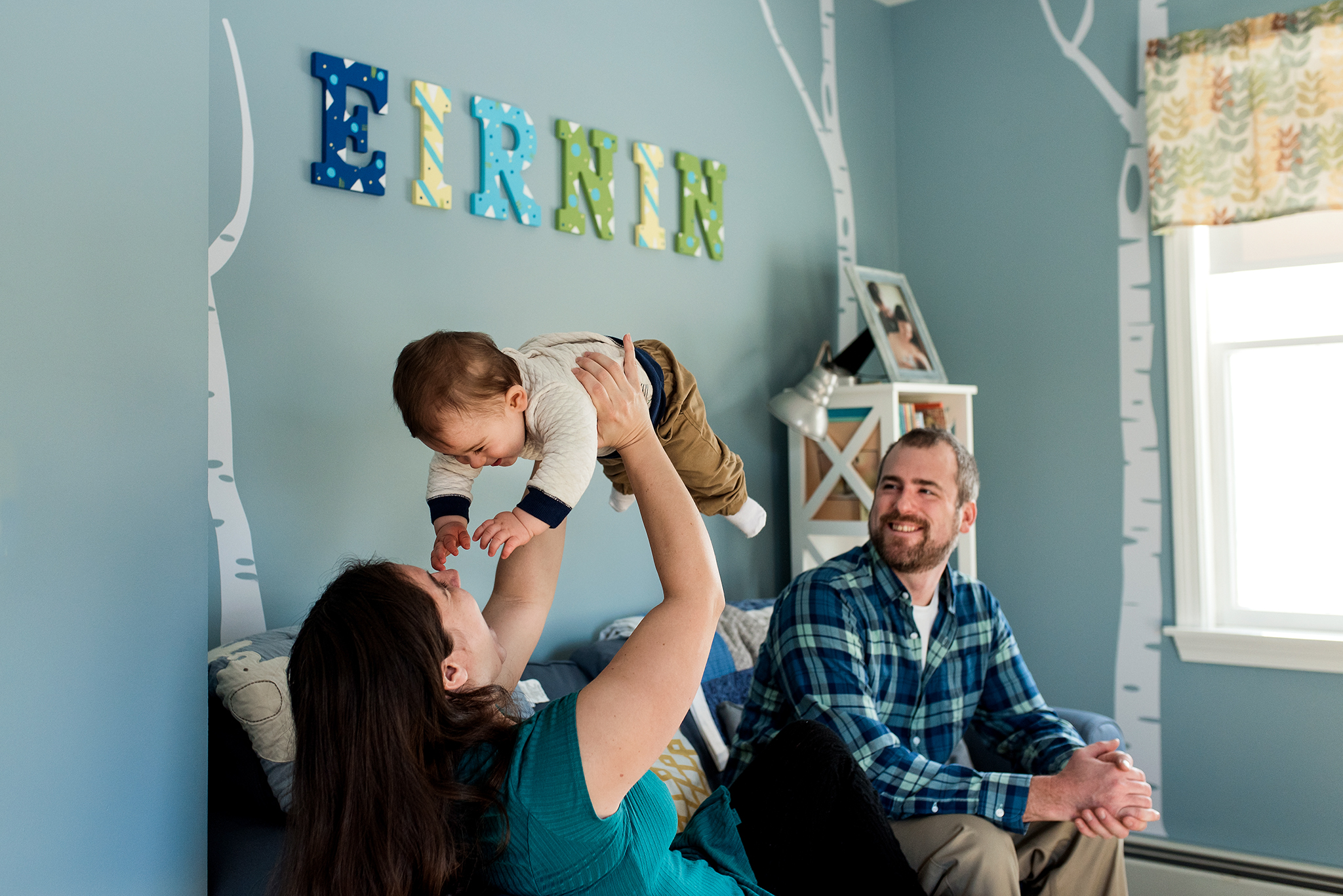 baby photography in nursery in mystic, ct family photographer