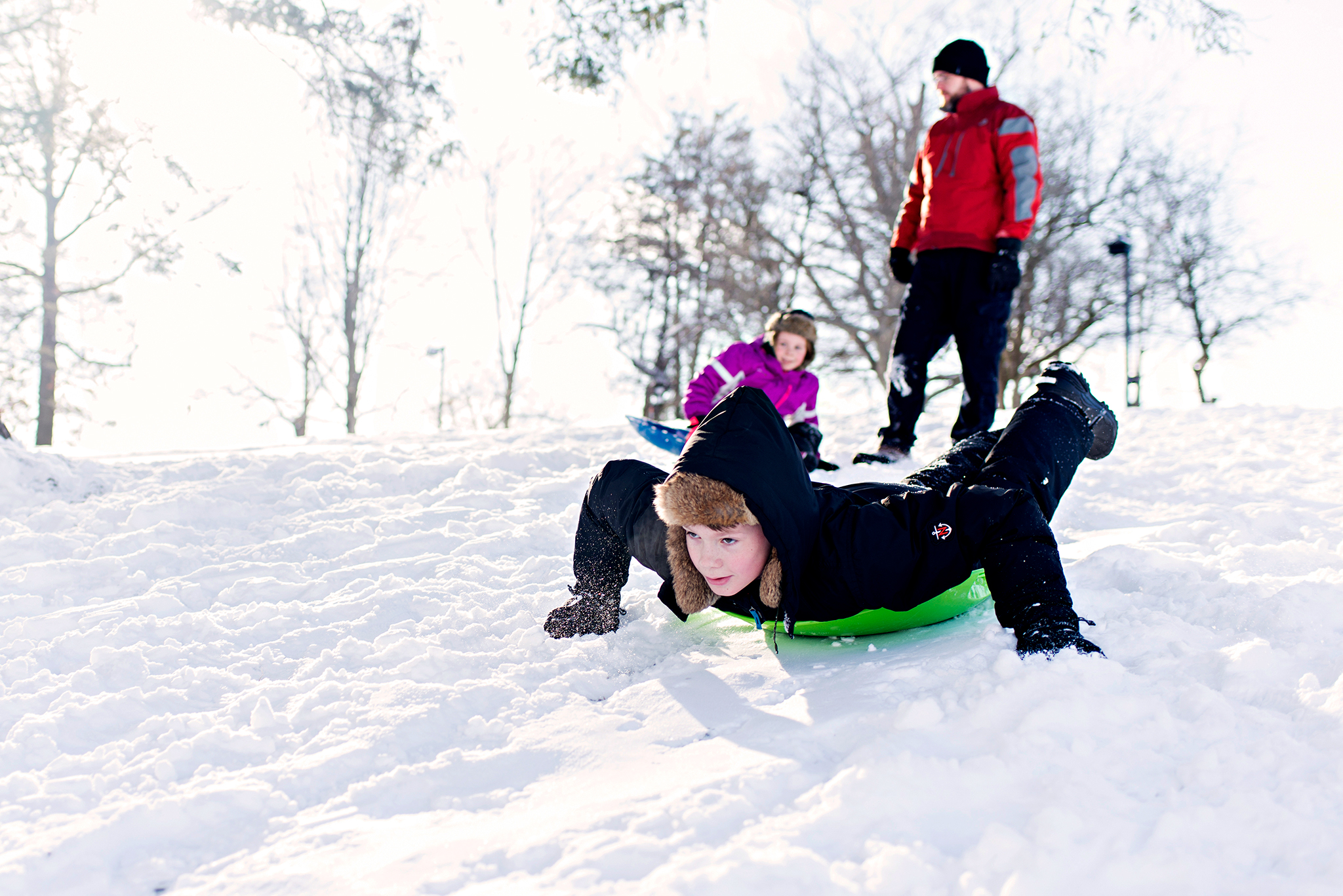 sledding photography with ct winter photography