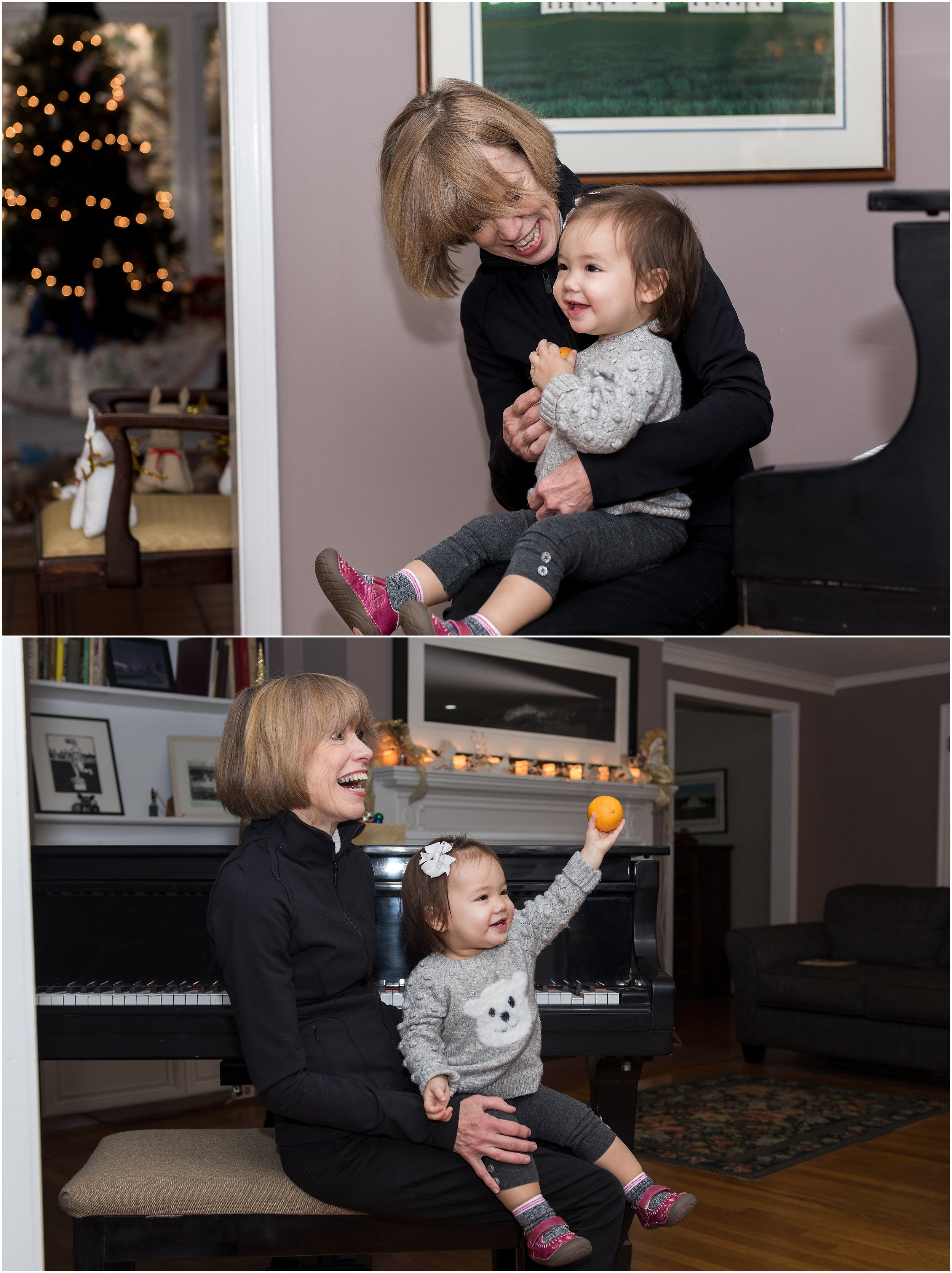 grandma and granddaughter playing piano new haven county, ct photography