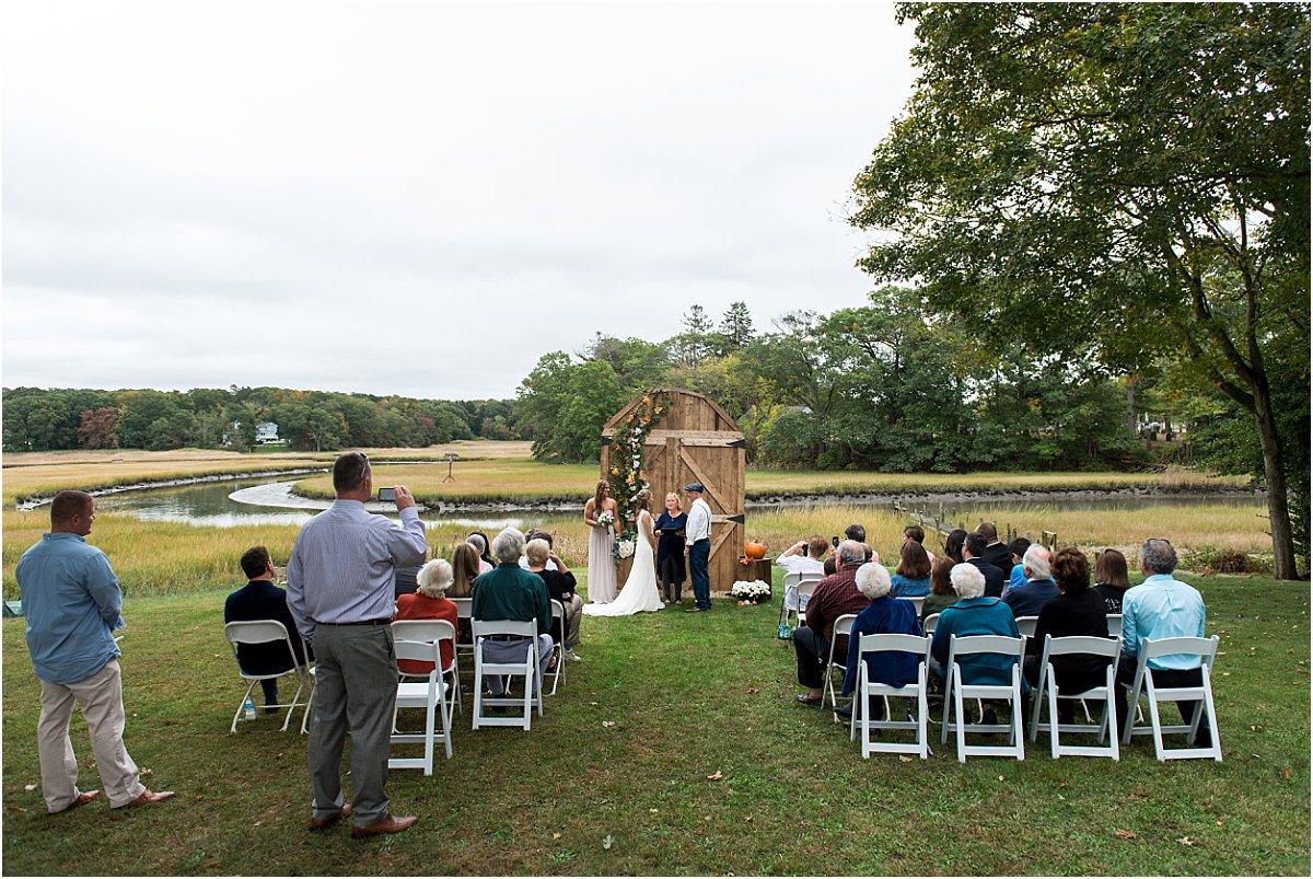 low key intimate backyard wedding