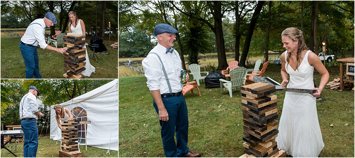 yard game tips for backyard wedding