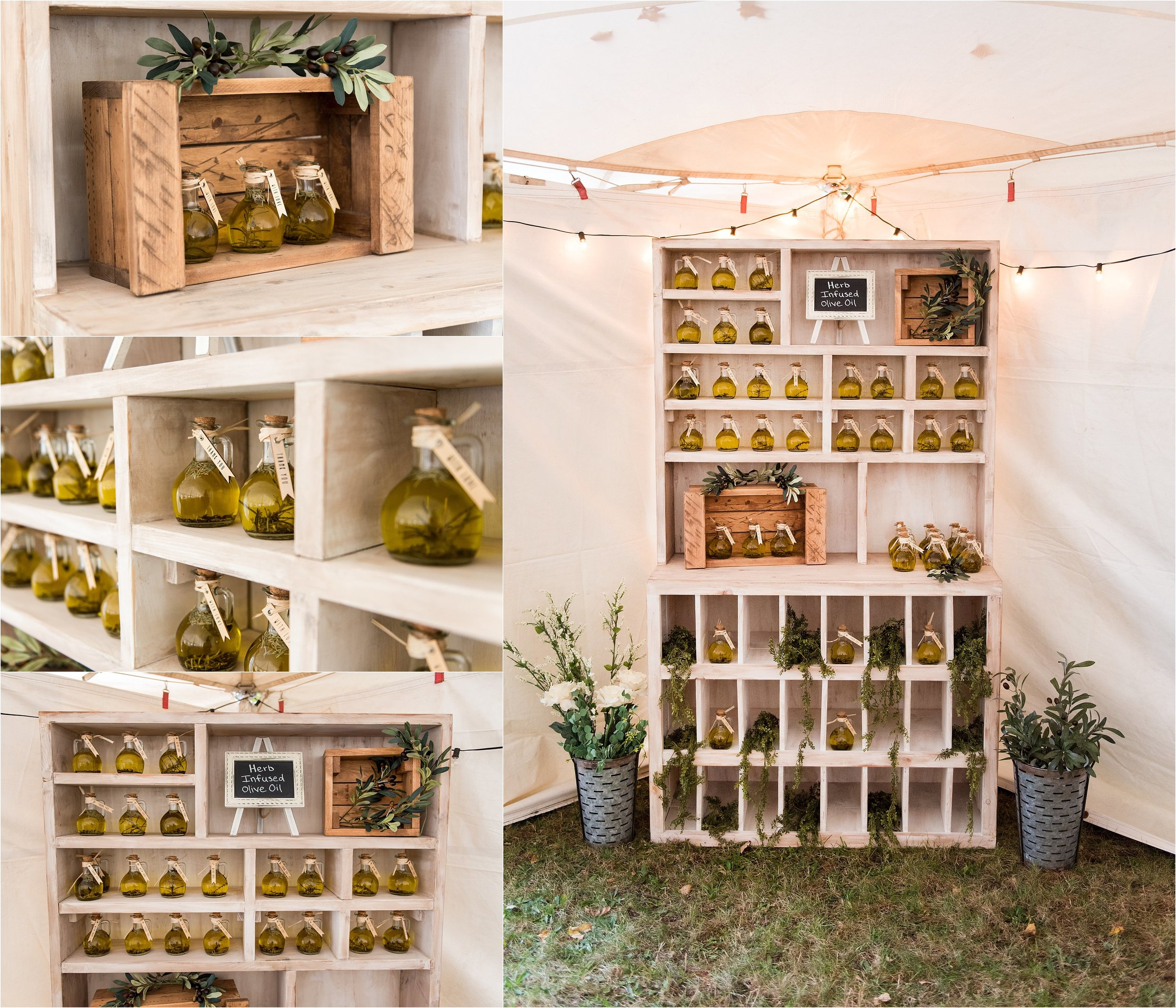 olive oil diy rustic wedding decor guest gifts