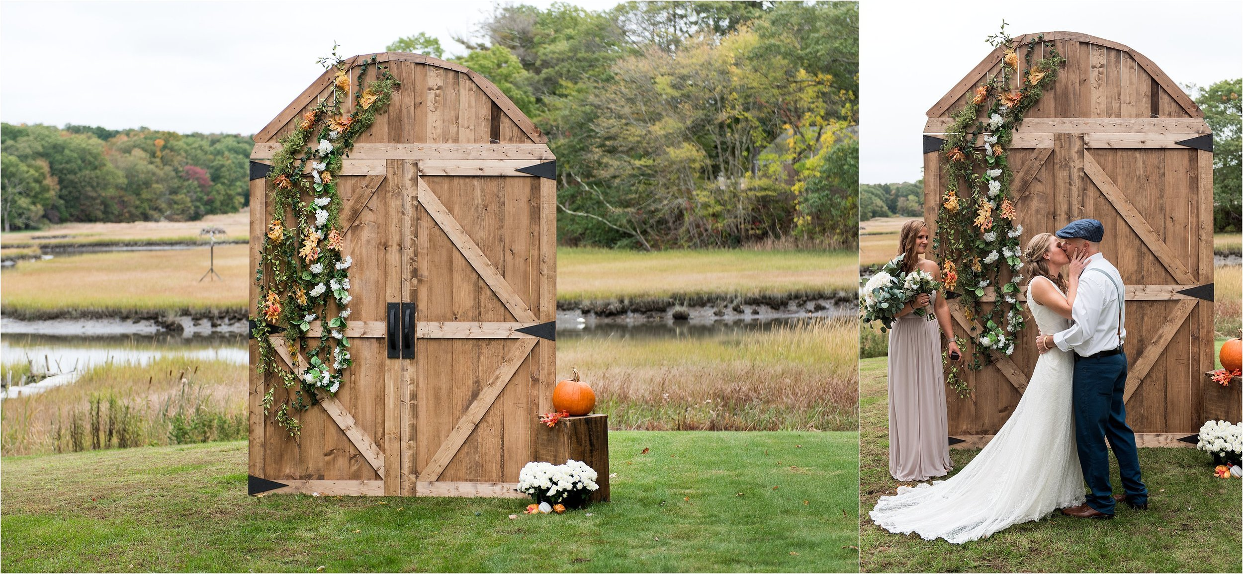 refurbished wood altar rustic wedding decor DIY