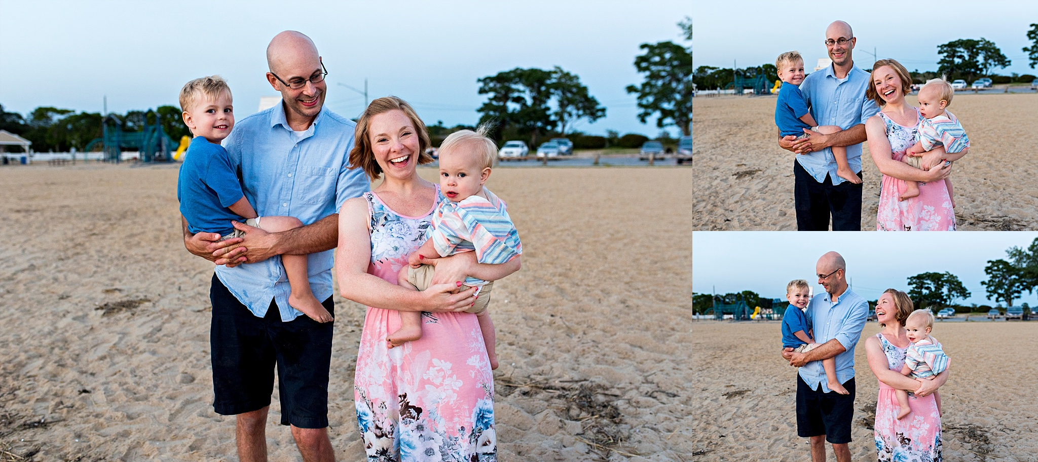 lifestyle family photography at connecticut beach