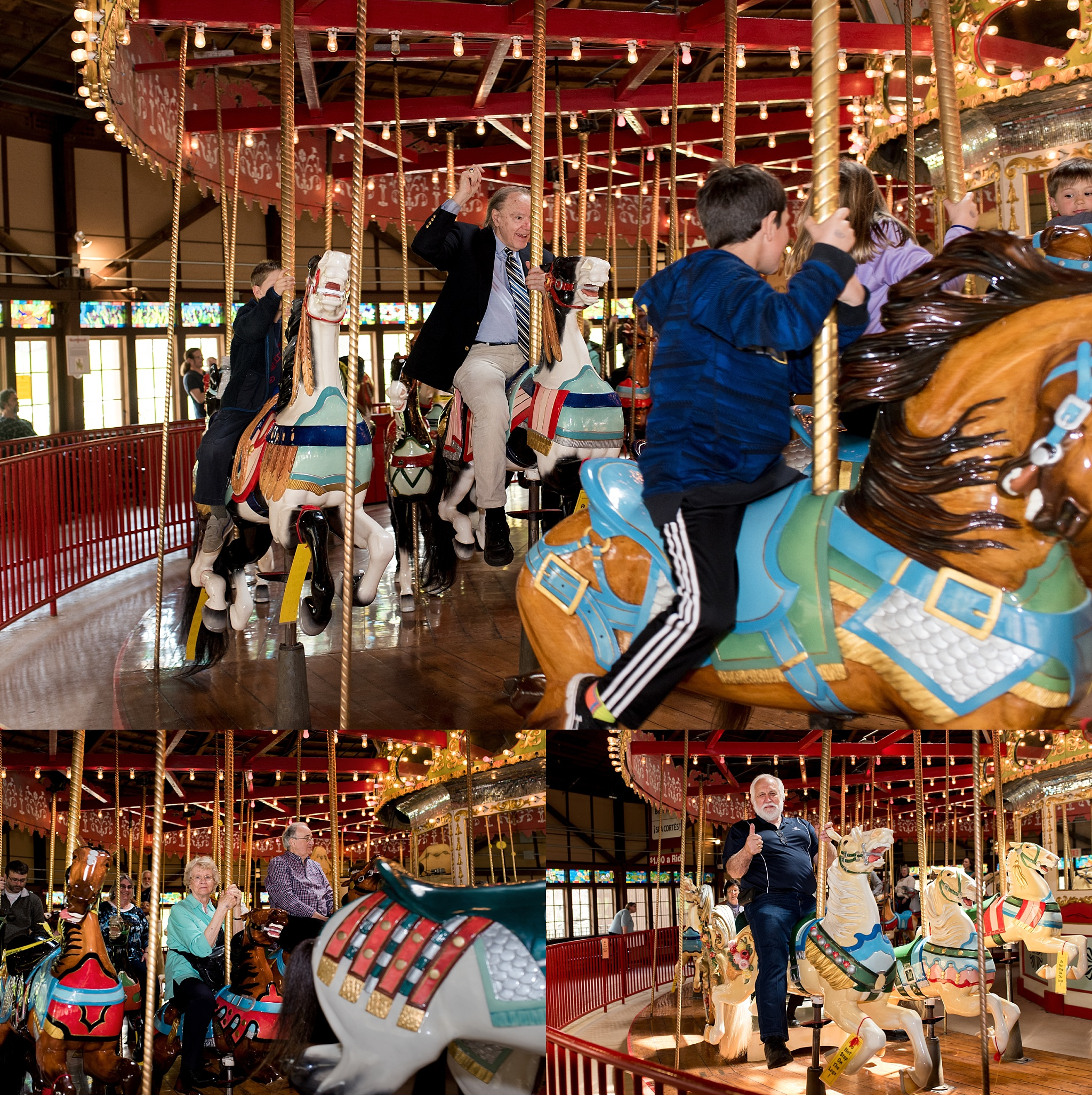 bushnell park carousel in hartford connecticut