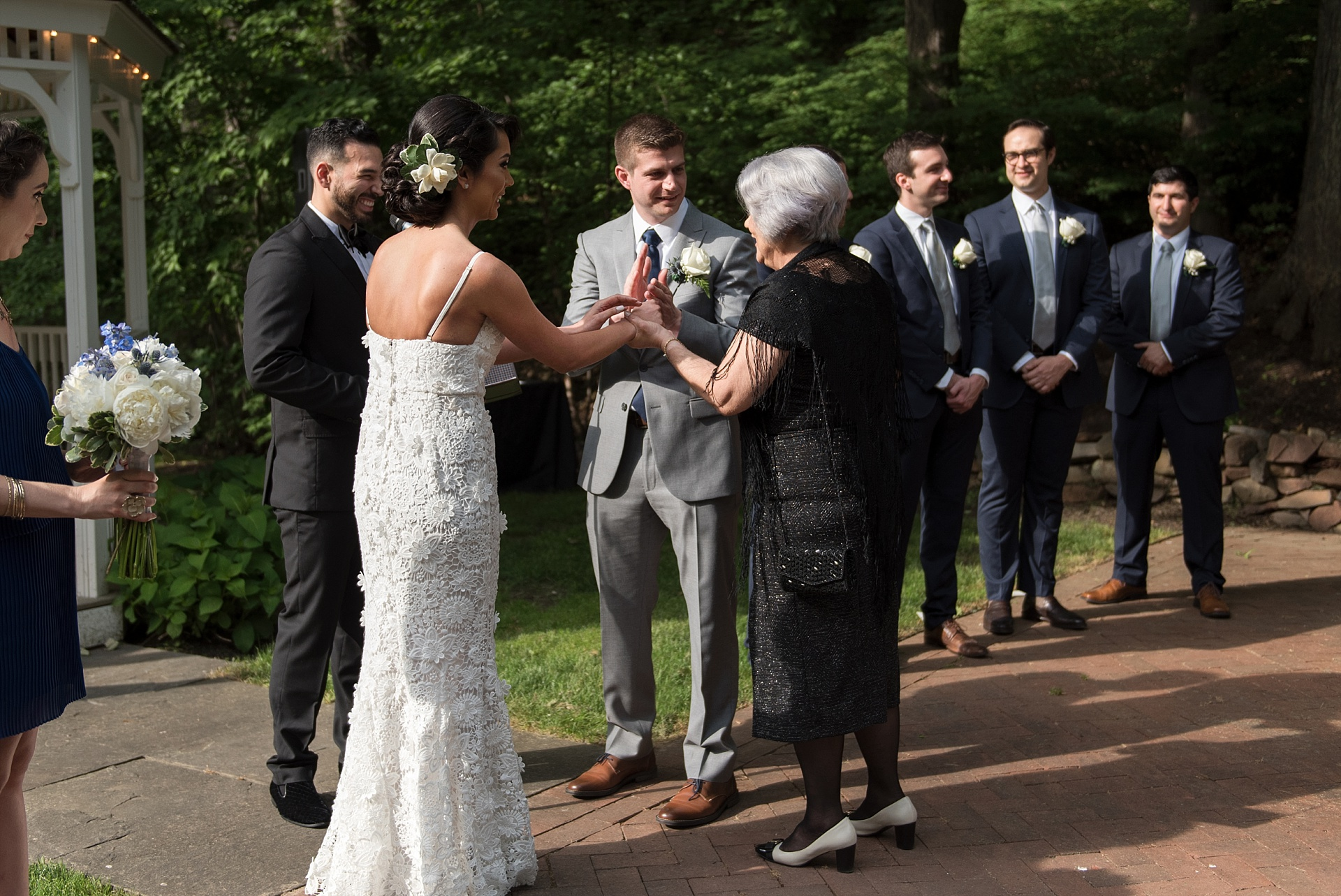 mother giving bride away connecticut wedding