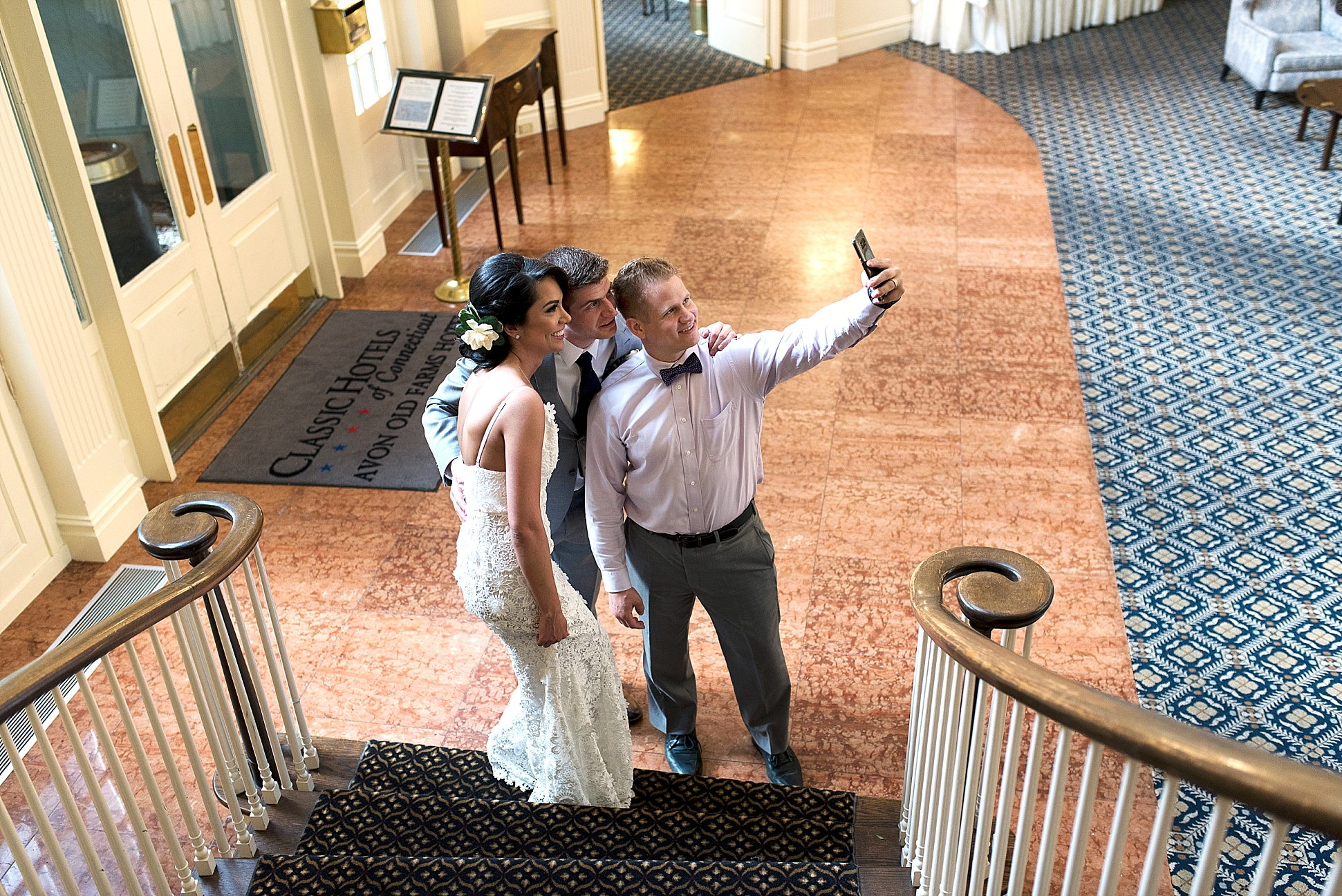 candid selfie. ct candid wedding photography