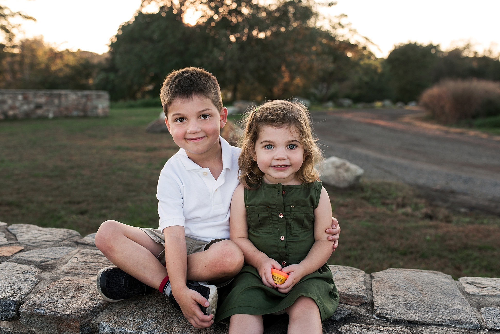 brother and sister photography session in middlesex county, ct