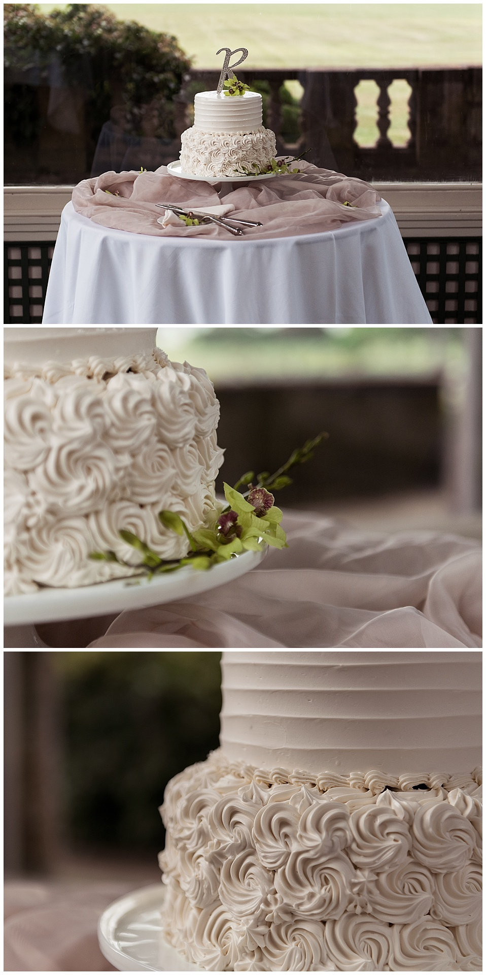 wedding cake at Eolia Mansion photography
