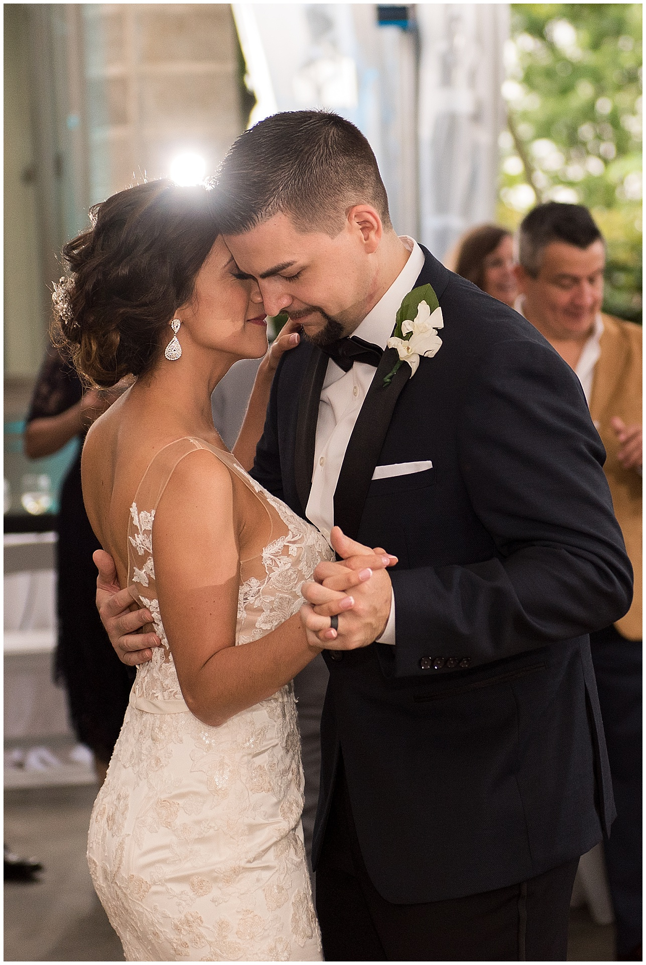 bride and grooms first dance at Eolia Mansion at Harkness State Park wedding photography