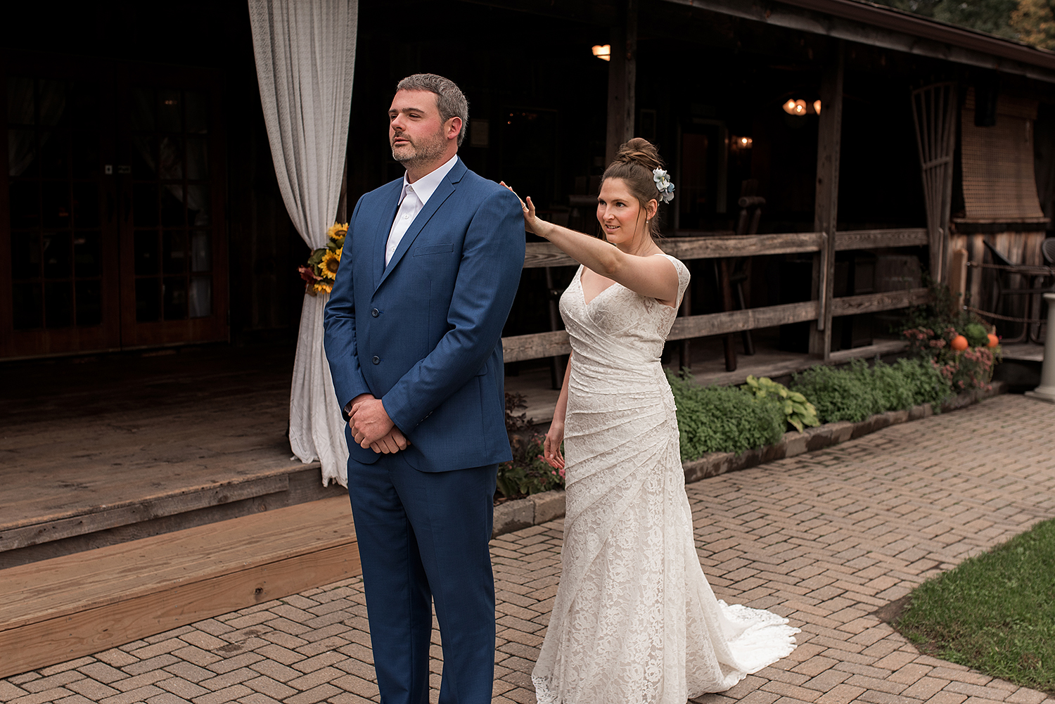 wood acres farm wedding. ct wedding photographer first look