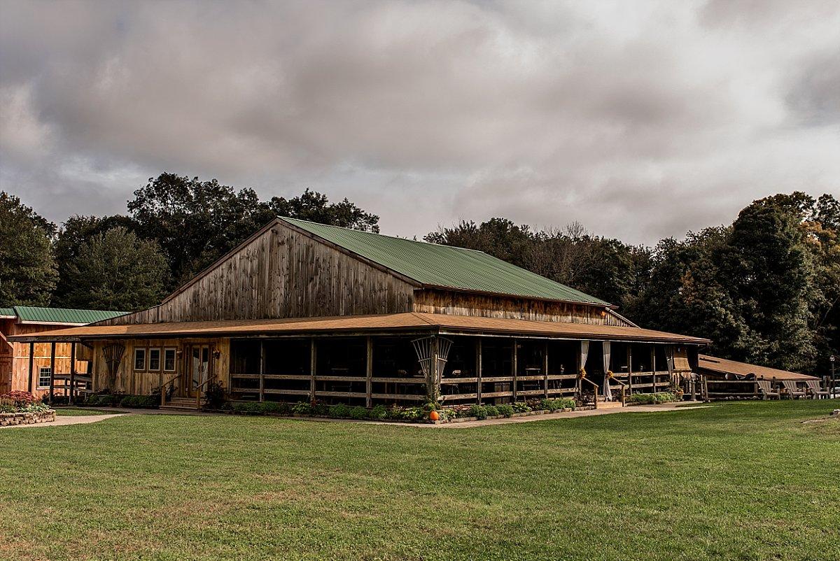 warm Fall wedding photography at wood acres farm