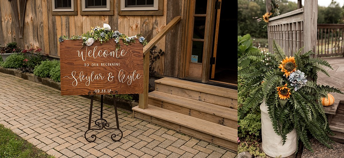 bride and groom handmade wedding sign
