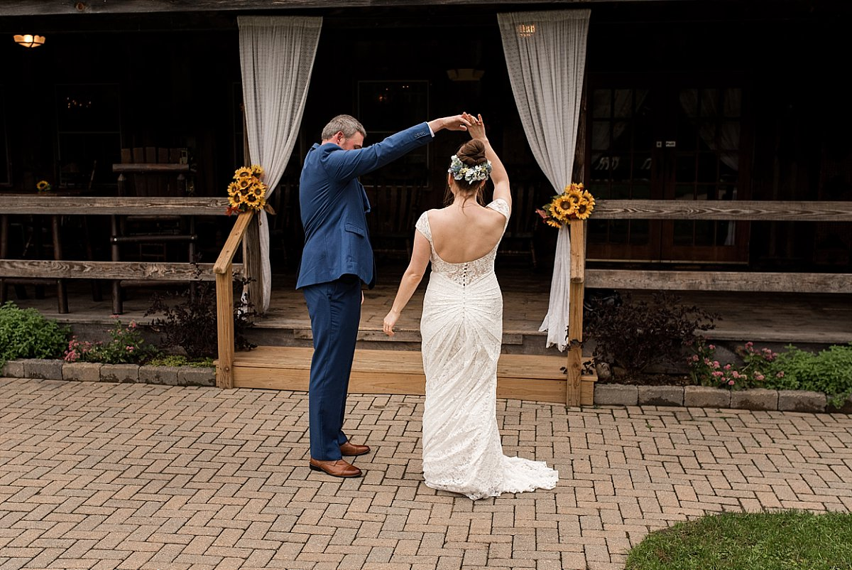 wedding day photos at wood acres farm in terryvile, ct