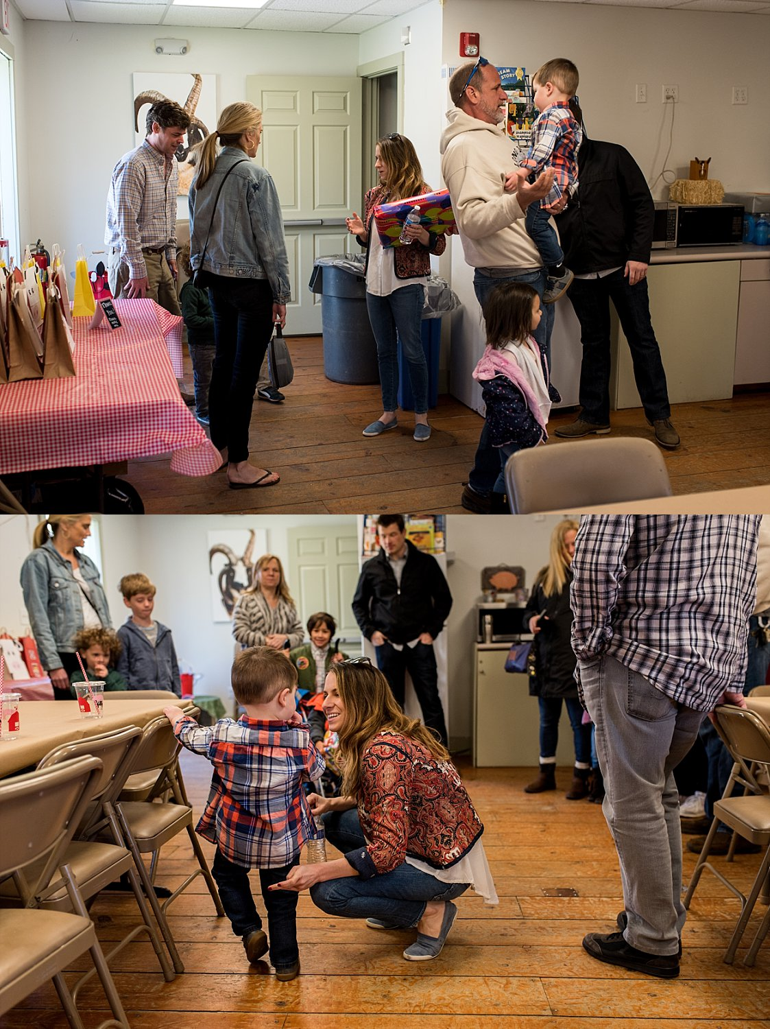 Family enjoying a birthday party at Stamford Nature Center in Connecticut. CT family photographer