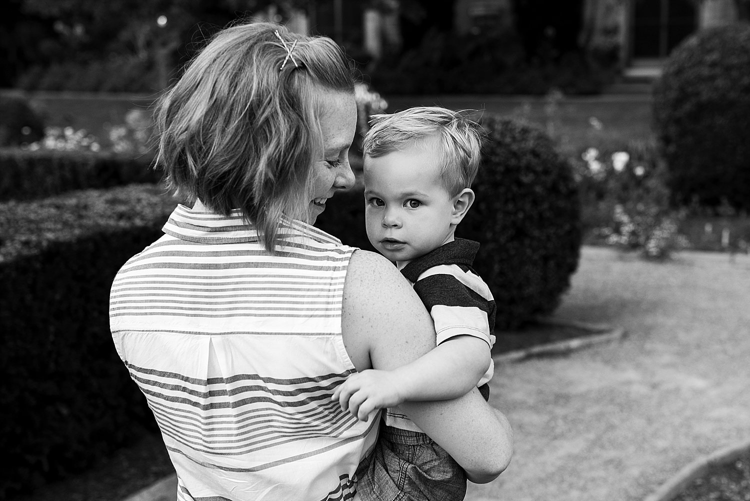 Mother and son portrait at Harkness Park in Waterford, CT